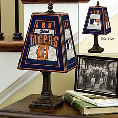 Handpainted Art Glass Team Lamp - Detroit Tigers - MLB