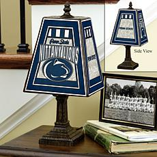 Handpainted Art Glass Team Lamp - Penn State - College