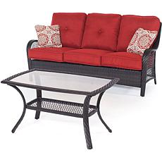 Hanover Orleans 2-Piece Patio Set - Autumn Berry