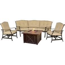 "Hanover Traditions 4pc Conversation Set w/40"" Fire Pit"