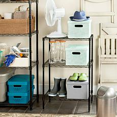 Happimess Sierra Mini 3-Tier  Wire Rack - Chrome