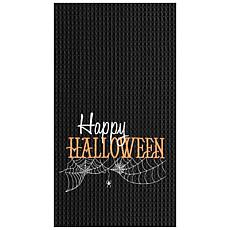 Happy Halloween Towel Black S-2