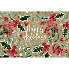 Happy Holidays Premium Comfort Christmas Floor Mat