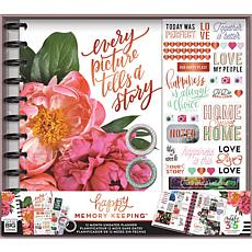 Happy Memory Keeping Undated 12-Month Planner Kit- Picture Tells Story