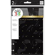 Happy Planner Mini Snap-In Hard Planner Cover  - Black with Gold Dot