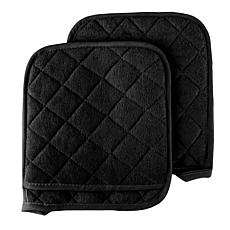 Hastings Home 2pc Oversized Heat Resistant Quilted Cotton Pot Holders