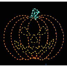 Haunted Hill Farm Indoor/Outdoor Giant Spooky Pumpkin LED Light