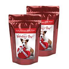 Healthy Breeds Valentine's Day Jerky Chicken Dog Treats 2-Pack 10 oz.
