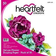 Heartfelt Creations Deluxe Flower Shaping Paper 50-pack - White