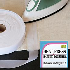 Heat Press Batting Together - White - 1.5 X 100 yards