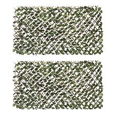 Hedge Fence 2pk Expandable Faux Ivy Privacy Fence