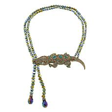 "Heidi Daus ""Ali-Gorgeous"" Beaded Crystal Drop Necklace"
