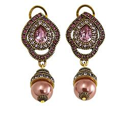 "Heidi Daus ""An Interesting Twist"" Crystal Drop Earrings"
