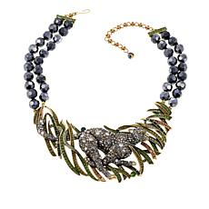 "Heidi Daus ""Animal Magnetism"" Beaded Drop Necklace"
