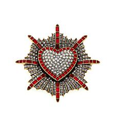 "Heidi Daus ""Badge of Honor"" Crystal Pin"