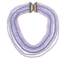 """Heidi Daus """"Bead It"""" Crystal-Accented Multi-Row Necklace"""