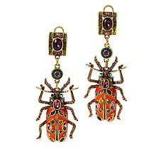 "Heidi Daus ""Big Critter"" Crystal and Enamel Drop Earrings"