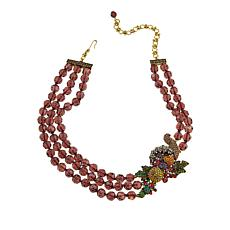 "Heidi Daus ""Bountiful Beauty"" Beaded Crystal Station Necklace"