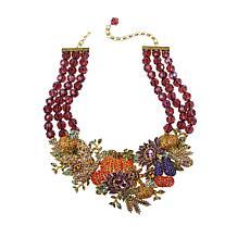 "Heidi Daus ""Bouquet Garni"" Crystal 3-Row Beaded Necklace"