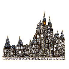 "Heidi Daus ""Captivating Castle"" Crystal Pin"