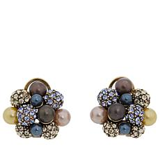 "Heidi Daus ""Captivating Cluster"" Crystal Earrings"