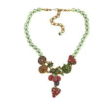 "Heidi Daus ""Captivating Compote"" Beaded Crystal Drop Necklace"