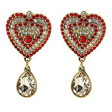 "Heidi Daus ""Capture My Heart"" Crystal Drop Earrings"