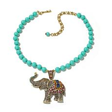 "Heidi Daus ""Casbah Chic"" Crystal Elephant Drop Necklace"