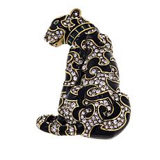 "Heidi Daus ""Cats-A-Nova"" Enamel and Crystal Pin"