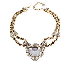 "Heidi Daus ""Chain of Events"" Clear Crystal Drop Necklace"