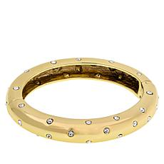 "Heidi Daus ""Chain Reaction"" Crystal-Accented Bangle Bracelet"