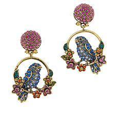 """Heidi Daus """"Chickadee Spring"""" Pavé Crystal Earrings"""