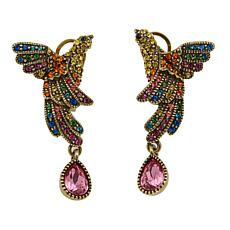 "Heidi Daus ""Chirp and Cheerful"" Crystal Drop Earrings"