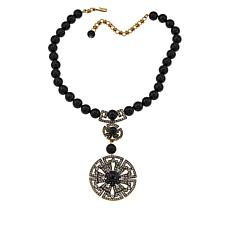 "Heidi Daus ""Circle Back"" Beaded Crystal Drop Necklace"