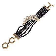 "Heidi Daus ""Classic Cascade"" Multi-Row Beaded Bracelet"