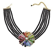 "Heidi Daus ""Color My World"" 6-Strand Beaded Drop Necklace"