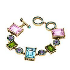 """Heidi Daus """"Conscious Coupling"""" Crystal Toggle Bracelet"""