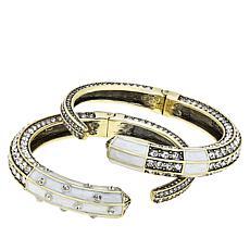 "Heidi Daus ""Contemporary Classic"" 2-piece Cuff Bracelet Set"