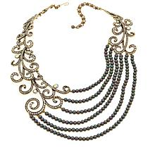 "Heidi Daus ""Couture Cascade"" Beaded Drape Necklace"