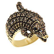 Heidi Daus Crocodile Crystal Ring