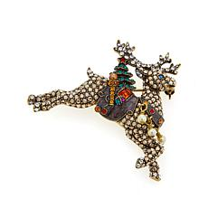 "Heidi Daus ""Dashing Delivery"" Enamel and Crystal Pin"