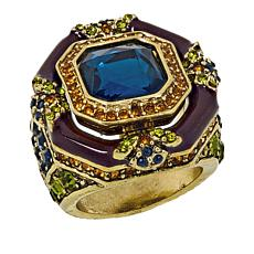 "Heidi Daus ""Day and Night"" Crystal and Enamel Ring"