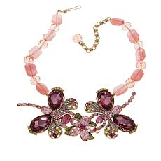 "Heidi Daus ""Dazzling Demoiselle"" Beaded Crystal Drop Necklace"