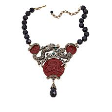 "Heidi Daus ""Dragon Treasure"" Beaded Crystal Drop Necklace"