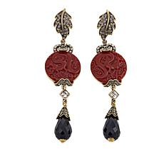 "Heidi Daus ""Dragon Treasure"" Crystal-Accented Drop Earrings"
