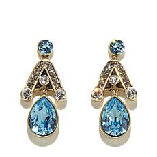 "Heidi Daus ""Draped in Deco"" Crystal Drop Earrings"