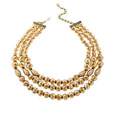 "Heidi Daus ""Dynamic Drama"" 3-Strand Beaded 20"" Necklace"