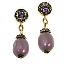 "Heidi Daus ""Ease and Elegance"" Dangle Earrings"