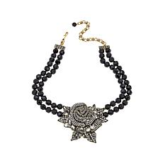 "Heidi Daus ""Enchanted Beauty"" Rose Drop Necklace"