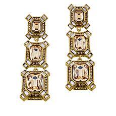 "Heidi Daus ""Estate Splendor"" Crystal Earrings"